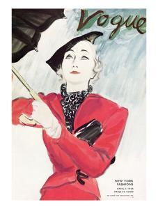 "Vogue Cover - April 1934 by Carl ""Eric"" Erickson"