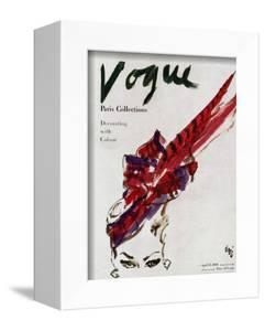 """Vogue Cover - April 1946 - Feathered Hat by Carl """"Eric"""" Erickson"""