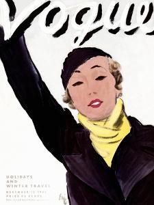 "Vogue Cover - December 1932 by Carl ""Eric"" Erickson"