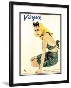 "Vogue Cover - December 1935 by Carl ""Eric"" Erickson"