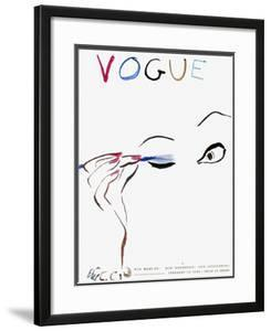 """Vogue Cover - February 1935 by Carl """"Eric"""" Erickson"""