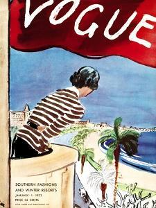 "Vogue Cover - January 1932 by Carl ""Eric"" Erickson"