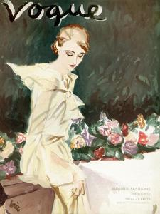 """Vogue Cover - June 1933 by Carl """"Eric"""" Erickson"""