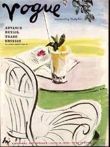 """Vogue Cover - June 1938 by Carl """"Eric"""" Erickson"""