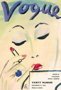 Vogue Cover - November 15, 1933 by Carl ?Eric? Erickson