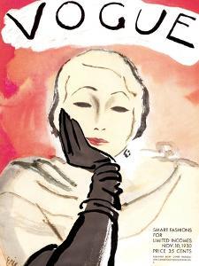 """Vogue Cover - November 1930 by Carl """"Eric"""" Erickson"""