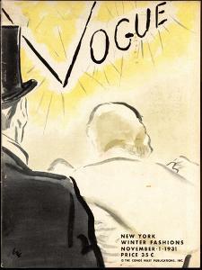 """Vogue Cover - November 1931 by Carl """"Eric"""" Erickson"""