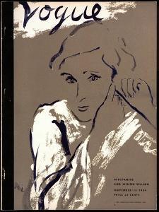 """Vogue Cover - November 1934 by Carl """"Eric"""" Erickson"""