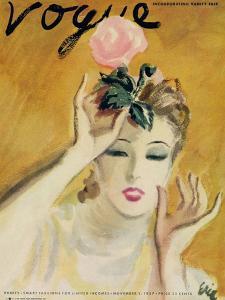 """Vogue Cover - November 1937 by Carl """"Eric"""" Erickson"""