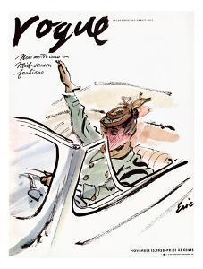 """Vogue Cover - November 1938 by Carl """"Eric"""" Erickson"""