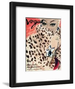 "Vogue Cover - November 1939 - Leopard Love by Carl ""Eric"" Erickson"