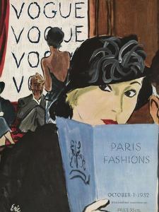 "Vogue Cover - October 1932 by Carl ""Eric"" Erickson"