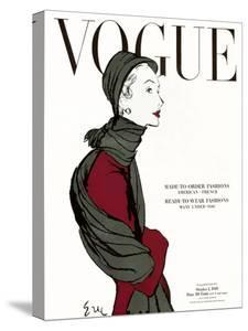 "Vogue Cover - October 1948 by Carl ""Eric"" Erickson"