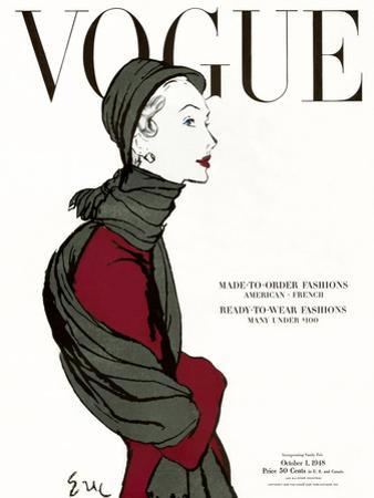"Vogue Cover - October 1948 by Carl ""Eric"" Erickson"