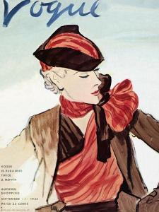 "Vogue Cover - September 1934 by Carl ""Eric"" Erickson"