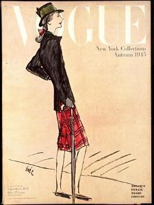 "Vogue Cover - September 1945 by Carl ""Eric"" Erickson"