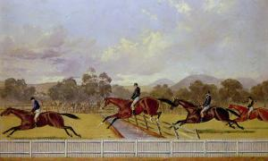 A Steeplechase by Carl Frederic Aagaard