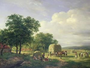 A Wooded Landscape with Haymakers, 1822 by Carl Frederic Aagaard