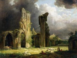 Glastonbury Abbey with the Tor Beyond by Carl Frederic Aagaard