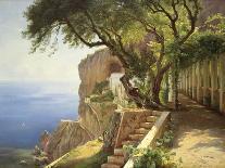 View to the Amalfi Coast-Carl Frederic Aagaard-Art Print