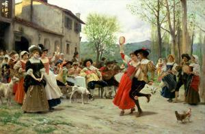 Silks and Satins at the Wedding Dance by Carl Frederic Aagaard