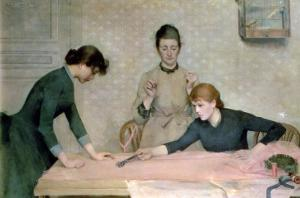 The Sewing Class by Carl Frederic Aagaard