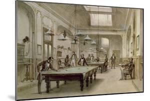 A Billiard Room, 1861 by Carl Friedrich Heinrich Werner