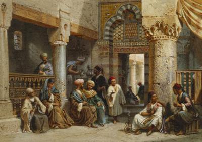 Arab Figures in a Coffee House, 1870 by Carl Friedrich Heinrich Werner