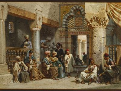 Arabic Figures in a Coffee House, 1870