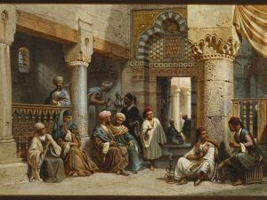 Arabic Figures in a Coffee House, 1870 by Carl Friedrich Heinrich Werner