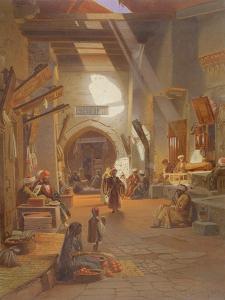 Bazaar at Girgah, One of 24 Illustrations Produced by G.W. Seitz, Printed C.1873 by Carl Friedrich Heinrich Werner