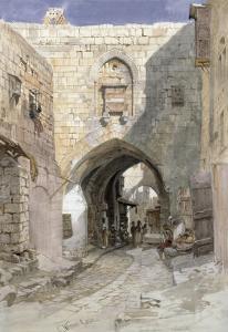 David's Strasse, Jerusalem, 1862 by Carl Friedrich Heinrich Werner