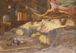 Inside the Dome of the Rock by Carl Friedrich Heinrich Werner