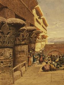 Musicians at Philae by Carl Friedrich Heinrich Werner