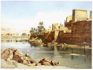 Temple of Isis at Philae, 1870 by Carl Friedrich Heinrich Werner