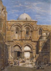 The Church of the Holy Sepulchre, Jerusalem by Carl Friedrich Heinrich Werner