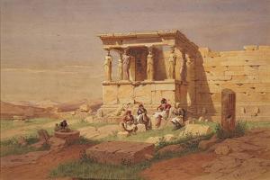 The Erechtheion, the Porch of the Caryatids, 1877 by Carl Friedrich Heinrich Werner