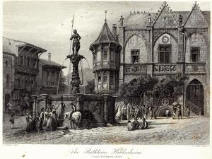 The Rathhaus, Hildesheim, engraved by J.J. Crew, printed by Cassell and Company Ltd by Carl Friedrich Heinrich Werner