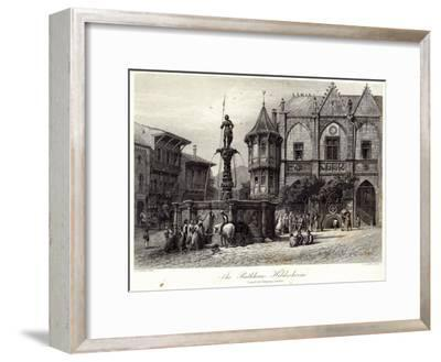 The Rathhaus, Hildesheim, engraved by J.J. Crew, printed by Cassell and Company Ltd