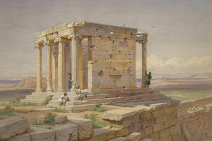 The Temple of Athena Nike. View from the North-East, 1877 by Carl Friedrich Heinrich Werner