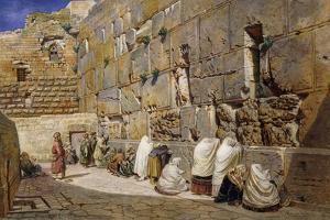 The Wailing Wall, Jerusalem, 1863 by Carl Friedrich Heinrich Werner