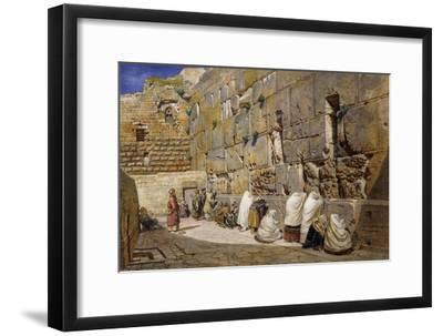 The Wailing Wall, Jerusalem, 1863