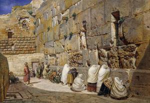 The Wailing Wall, Jerusalem by Carl Friedrich Heinrich Werner
