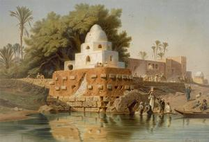 Tomb of Sheikh Ababda in Minya, Middle Egypt, 1871 by Carl Friedrich Heinrich Werner