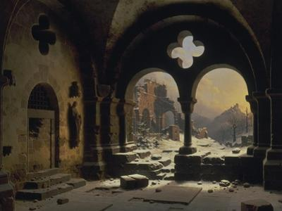 View from a Monastery in Ruins, 1846 by Carl Friedrich Heinrich Werner
