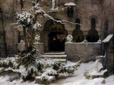 Monastery Garden in Snow