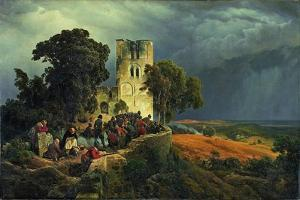The Siege, 1848 by Carl Friedrich Lessing