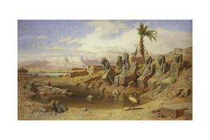 Temple of Karnak at Luxor, Egypt by Carl Friedrich Werner