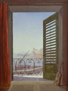 Balcony Room with a View of the Bay of Naples, C. 1829 by Carl Gustav Carus