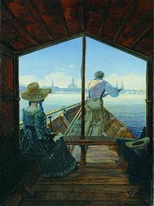 Barge Trip on the Elbe Near Dresden (Morning on the Elb), 1827 by Carl Gustav Carus